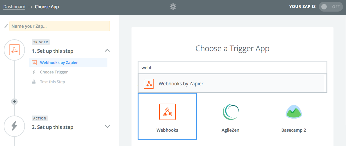 screengrab of Webhooks by Zapier