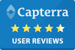 Capterra 4.5 stars badge