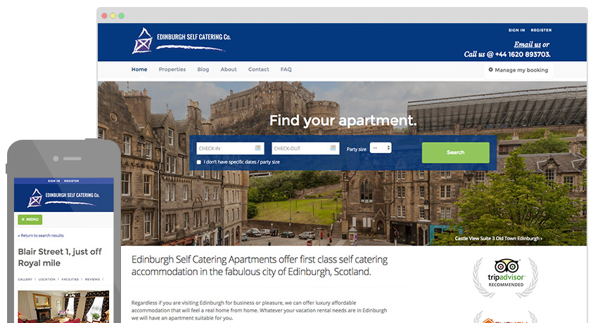 Edinburgh Self Catering website