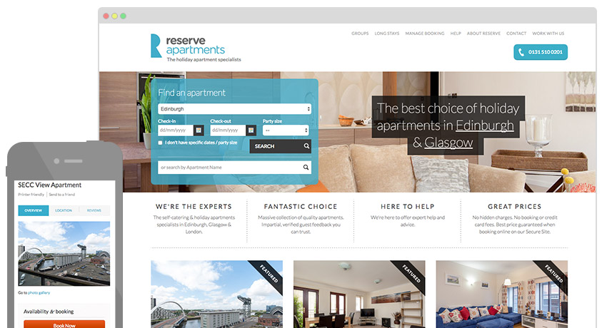 Reserve Apartments website